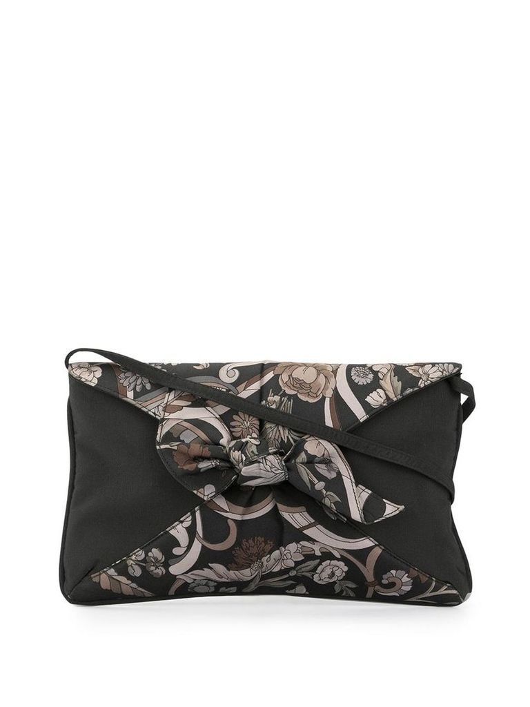 Gucci Vintage floral print nylon clutch - Brown
