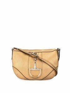 Gucci Pre-Owned metallic leather Horsebit shoulder bag - Gold