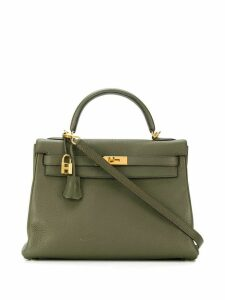 Hermès Pre-Owned 32cm Kelly bag - Green