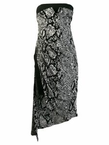 Rewind Vintage Affairs snakeskin print asymmetric dress - Black