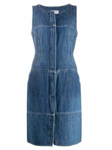 CHANEL PRE-OWNED denim pinafore dress - Blue