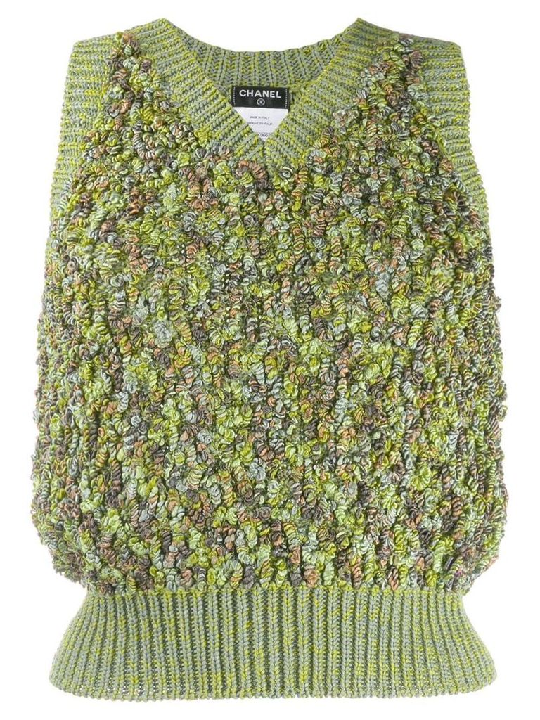 Chanel Vintage knitted skirt suit - Green