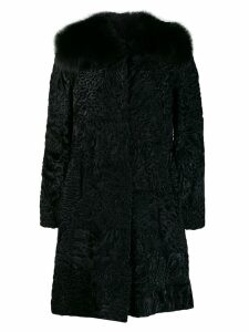 Prada Pre-Owned jacquard midi coat - Black
