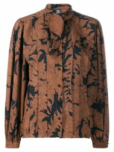 Emanuel Ungaro Pre-Owned 1980's pussy bow blouse - Brown