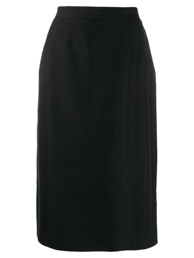 Valentino Vintage 1980's pencil skirt - Black