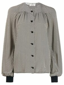 Valentino Pre-Owned 1980's pattern shirt - Black