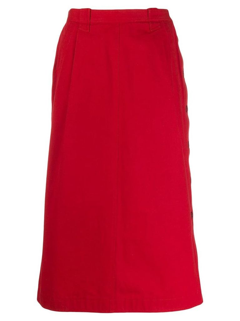 Gucci Vintage 1980's high waisted skirt - Red