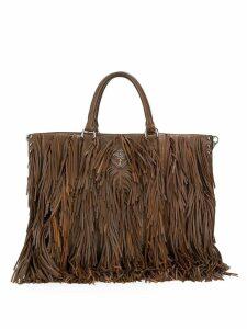 Prada Pre-Owned 2000's fringed tote bag - Brown