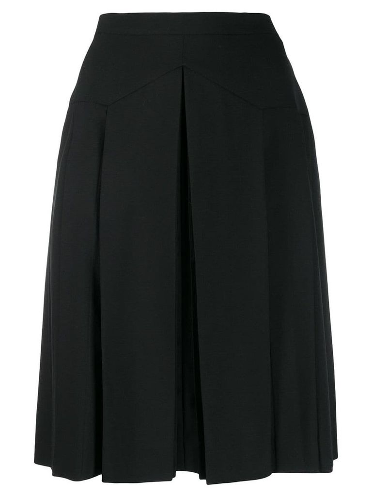 Chanel Vintage 1990's box pleat short skirt - Black