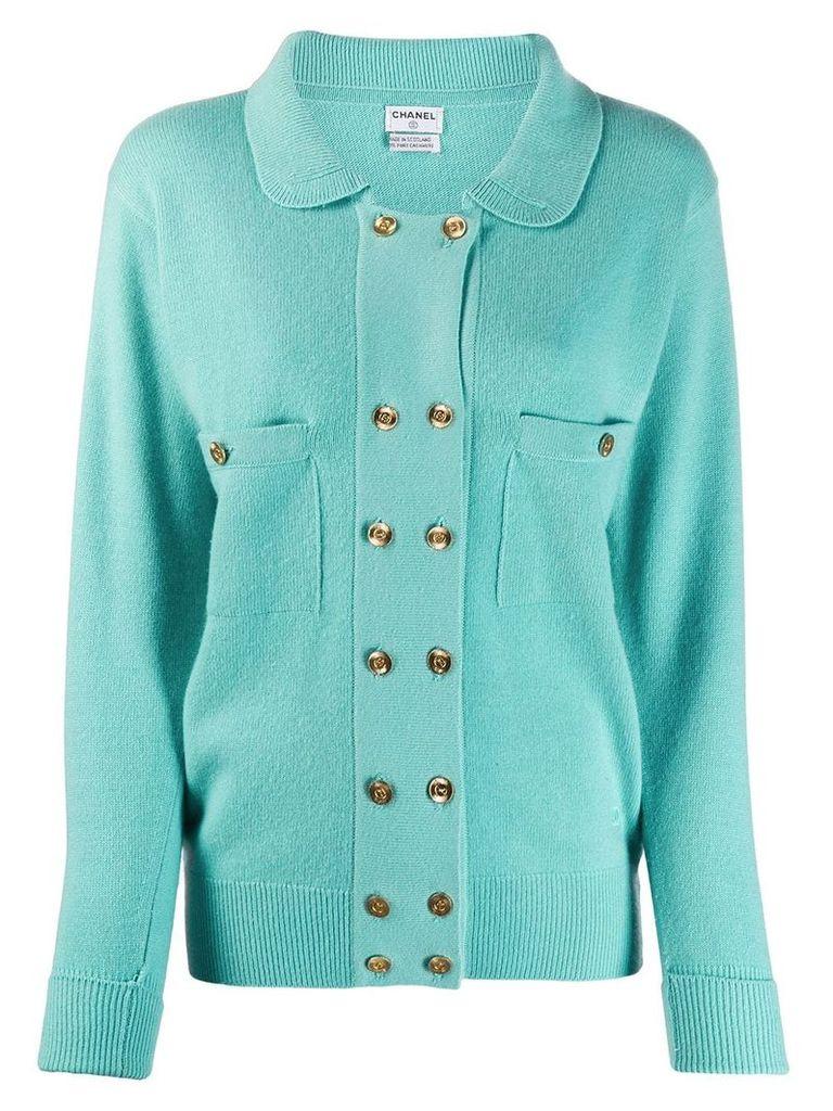 Chanel Vintage 1990's cashmere cardigan - Blue