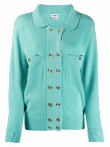CHANEL PRE-OWNED 1990's cashmere cardigan - Blue