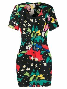 Emanuel Ungaro Pre-Owned 1980's abstract print dress - Black