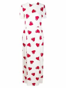 Moschino Pre-Owned 2000's heart pattern maxi dress - White