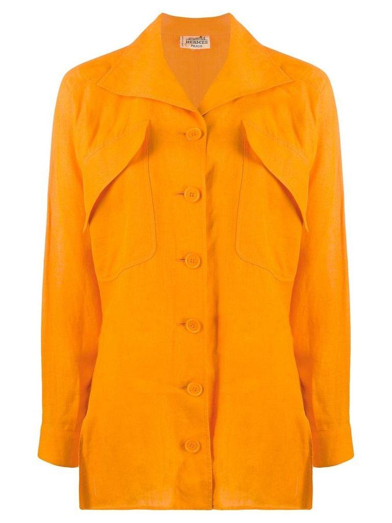 Hermès Vintage oversized pockets shirt - Orange