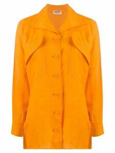 Hermès Pre-Owned oversized pockets shirt - Orange