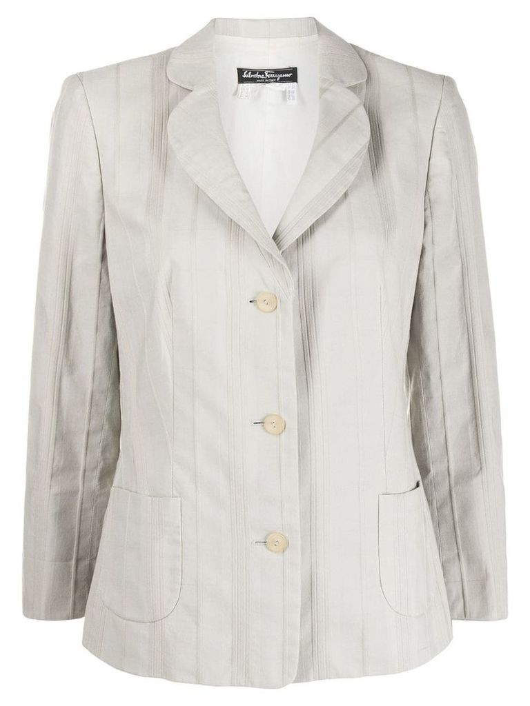 Salvatore Ferragamo Vintage 1990's striped blazer - Grey