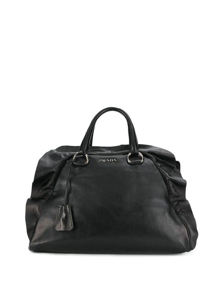 Prada Vintage 2000 top flap tote - Black