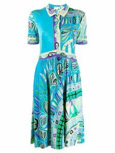 Emilio Pucci Pre-Owned midi shirt dress - Blue