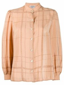 Louis Feraud Pre-Owned 1970's checked blouse - Neutrals