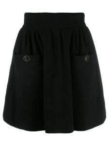 Chanel Pre-Owned 1990's A-line mini skirt - Black