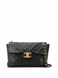 Chanel Pre-Owned CC quilted chain shoulder bag - Black