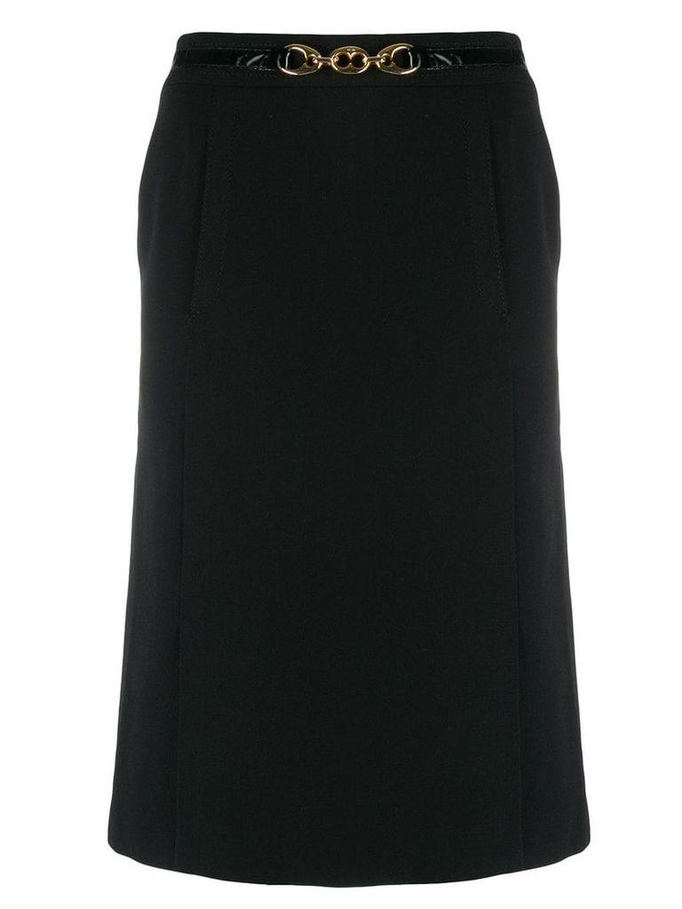 Céline Vintage high rise A-line skirt - Black