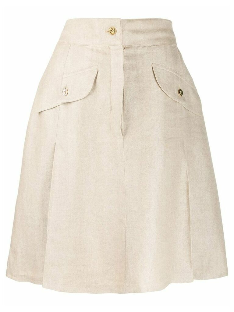 Chanel Vintage 1980's A-line skirt - Neutrals