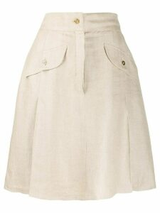 Chanel Pre-Owned 1980's A-line skirt - NEUTRALS