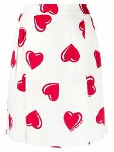 Moschino Pre-Owned 2000's heart printed skirt - White