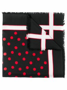 Yves Saint Laurent Pre-Owned 1980's graphic print scarf - Black