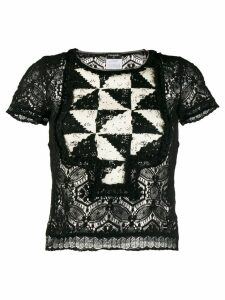 Chanel Pre-Owned 2004's geometric panel blouse - Black