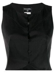 Chanel Pre-Owned 2003's cropped top - Black
