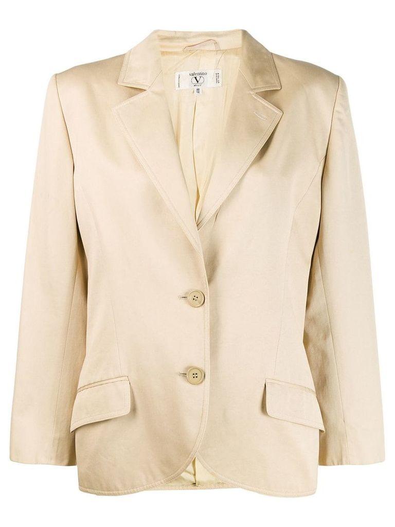 Valentino Vintage 1980's classic blazer - Neutrals