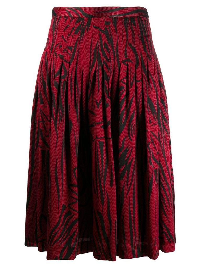 Valentino Vintage 1980's patterned skirt - Red