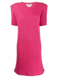 Yves Saint Laurent Pre-Owned 1980's cable knit ribbed dress - Pink