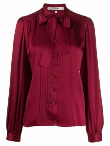 Jean Louis Scherrer Pre-Owned 1980's pussybow blouse - Red