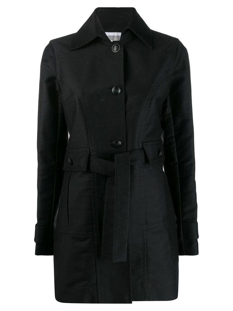 Chanel Vintage 2007's tied midi coat - Black