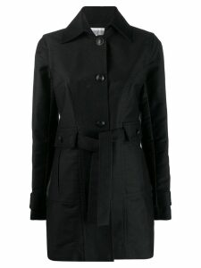 Chanel Pre-Owned 2007's tied midi coat - Black