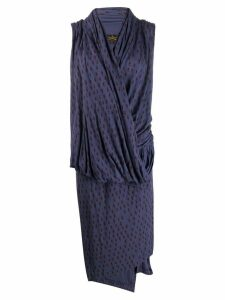 VIVIENNE WESTWOOD PRE-OWNED knitted wrap-front dress - Blue