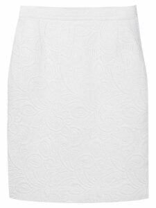 Yves Saint Laurent Pre-Owned 1980's quilted pencil skirt - White
