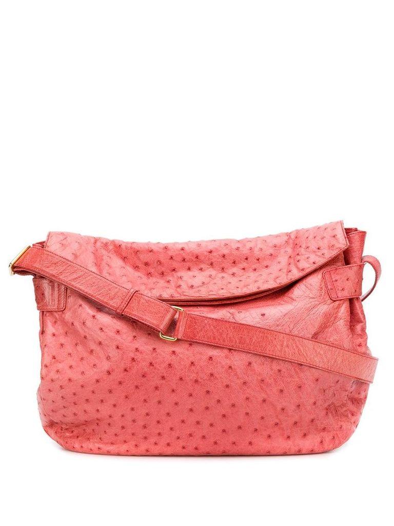 Gucci Vintage ostrich print shoulder bag - Pink