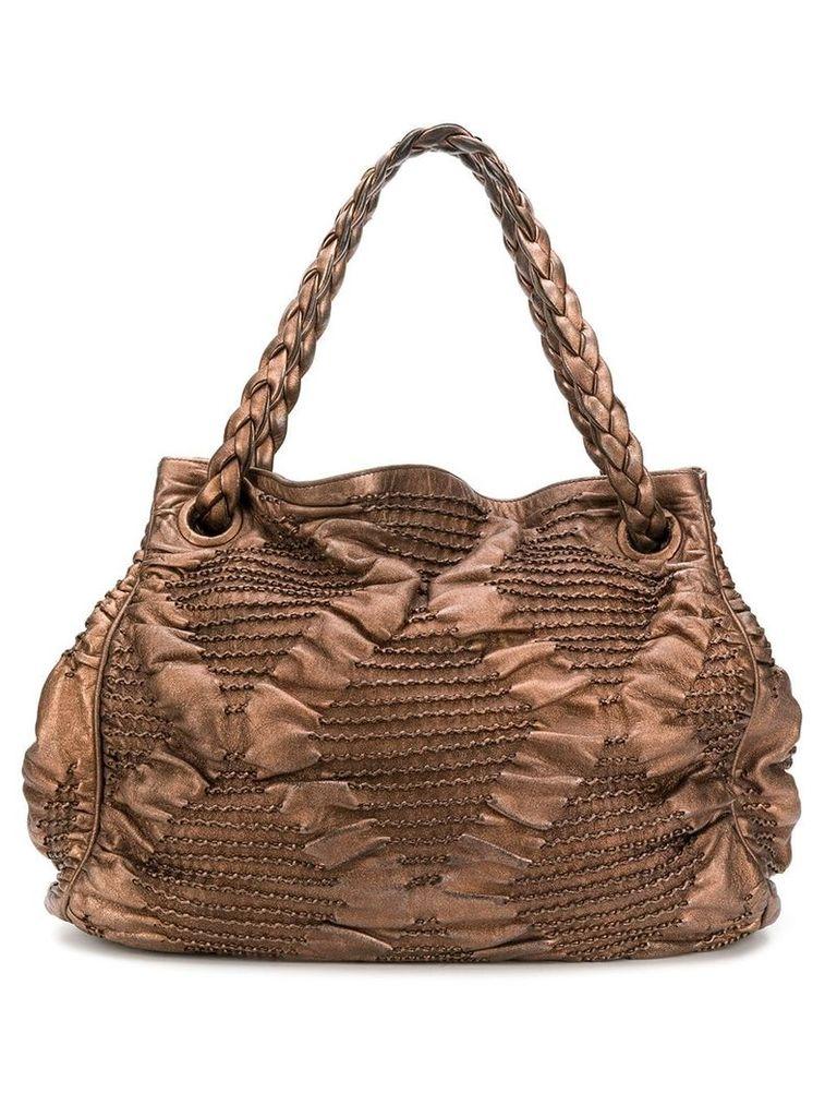 Bottega Veneta Vintage textured tote bag - Brown