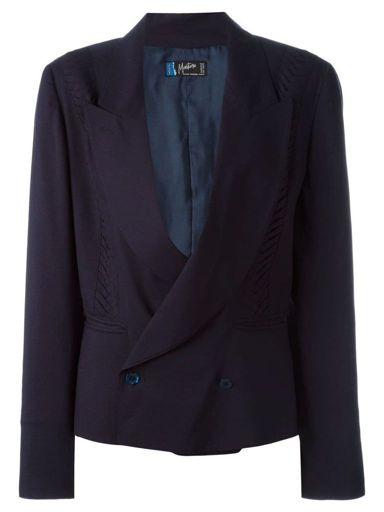 Claude Montana Vintage double breasted blazer - Blue