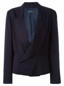 Claude Montana Pre-Owned double breasted blazer - Blue