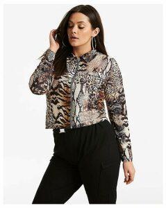 Pink Clove Animal Print Jacket
