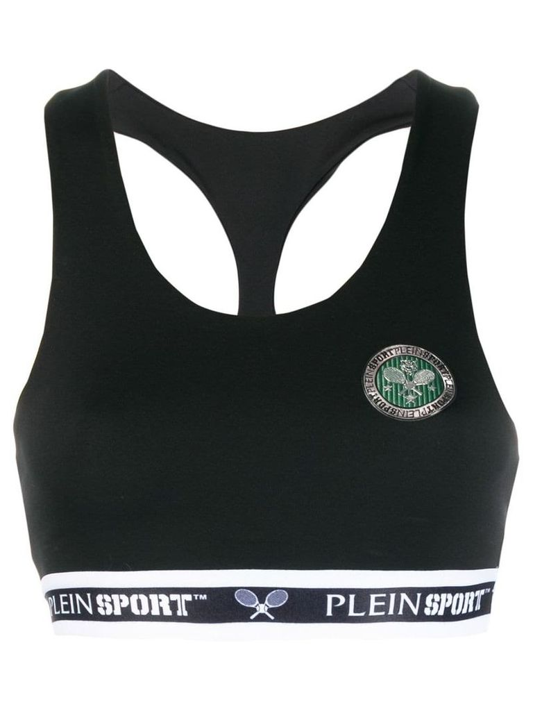 Plein Sport Tennis cropped top - Black