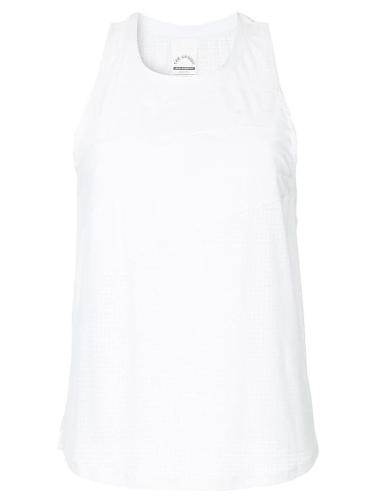 The Upside asymmetrical tank-top - White