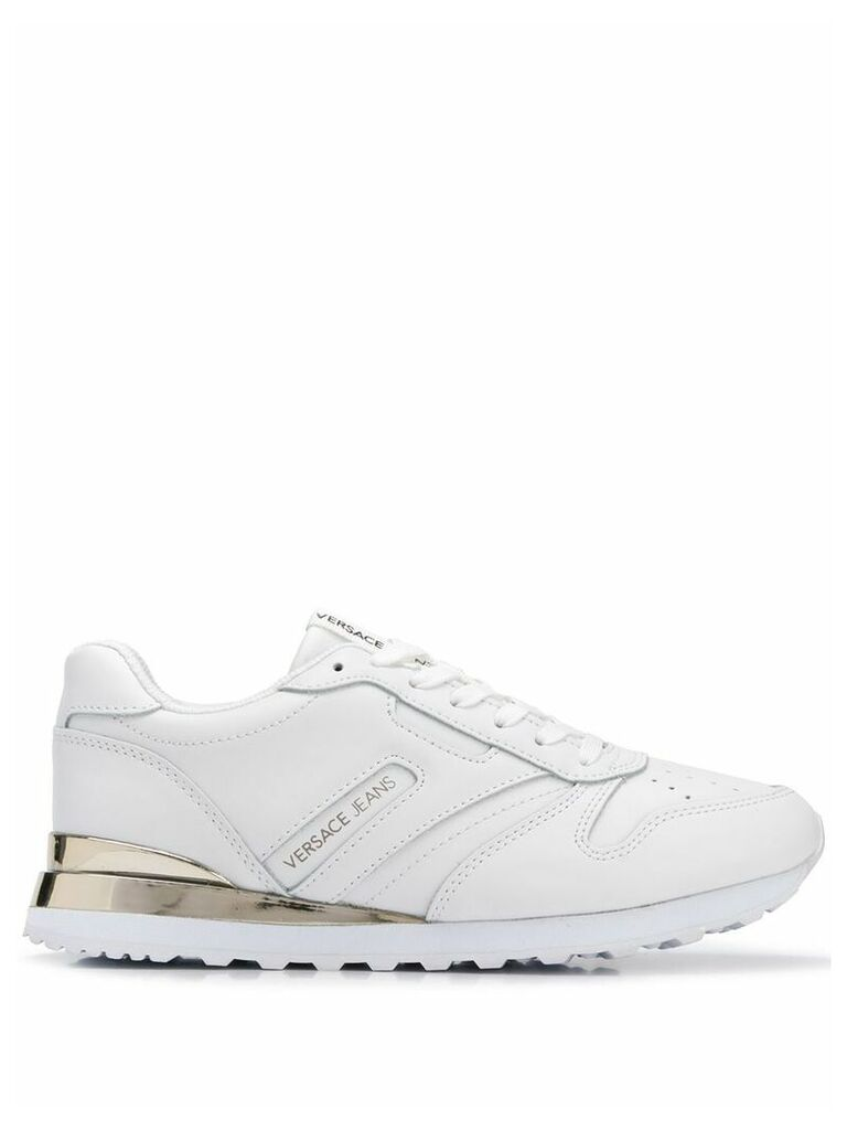 Versace Jeans classic lace-up sneakers - White