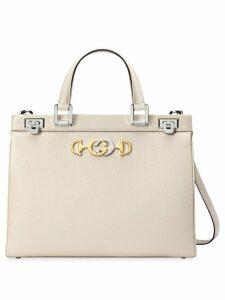Gucci Gucci Zumi medium top handle bag - White