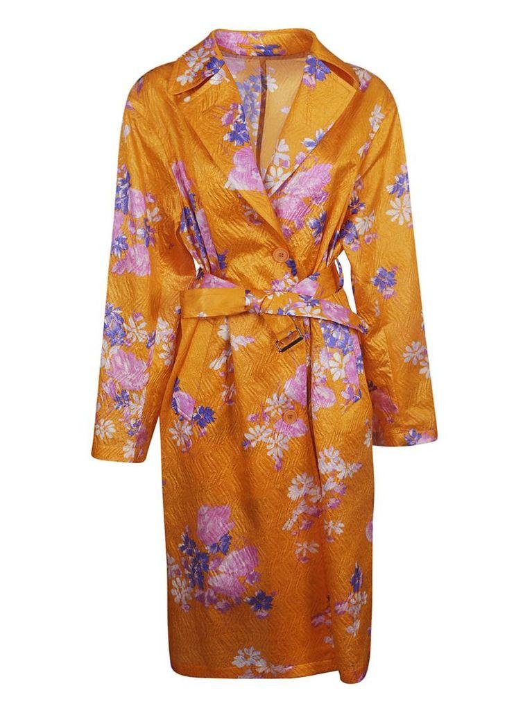 Dries Van Noten Floral Print Coat